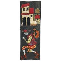 1950s Fernado Rava Italian Ceramic Plate for Ceramiche Artistiche Faenza
