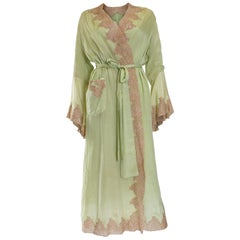 1950s Fine Silk Dressing Gown