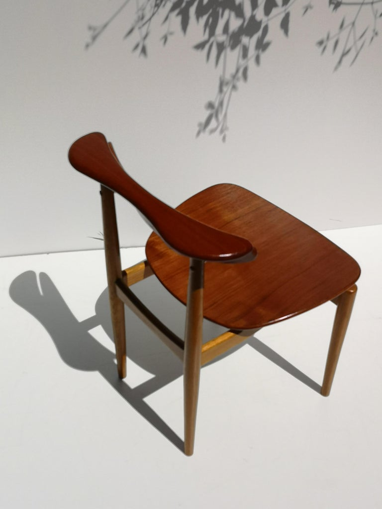 1950s Finn Juhl Reading Chair for Bovirke in Teak and Oak BO62 / BO53 4