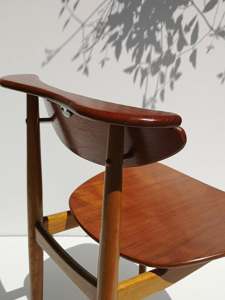 1950s Finn Juhl Reading Chair for Bovirke in Teak and Oak BO62 / BO53 5