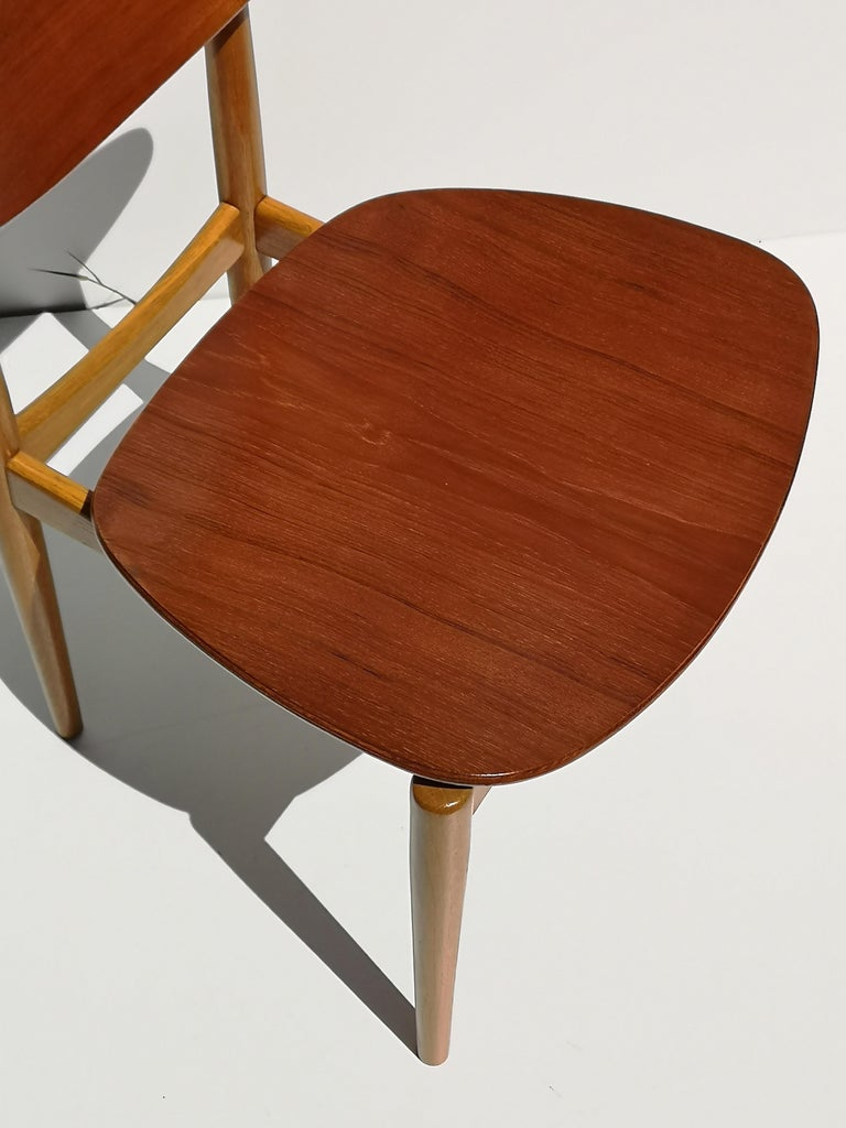 1950s Finn Juhl Reading Chair for Bovirke in Teak and Oak BO62 / BO53 6