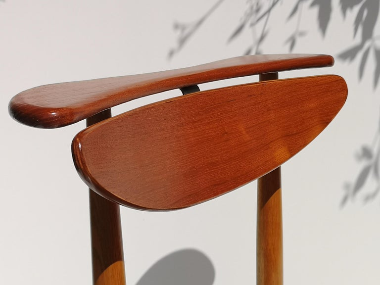 1950s Finn Juhl Reading Chair for Bovirke in Teak and Oak BO62 / BO53 7