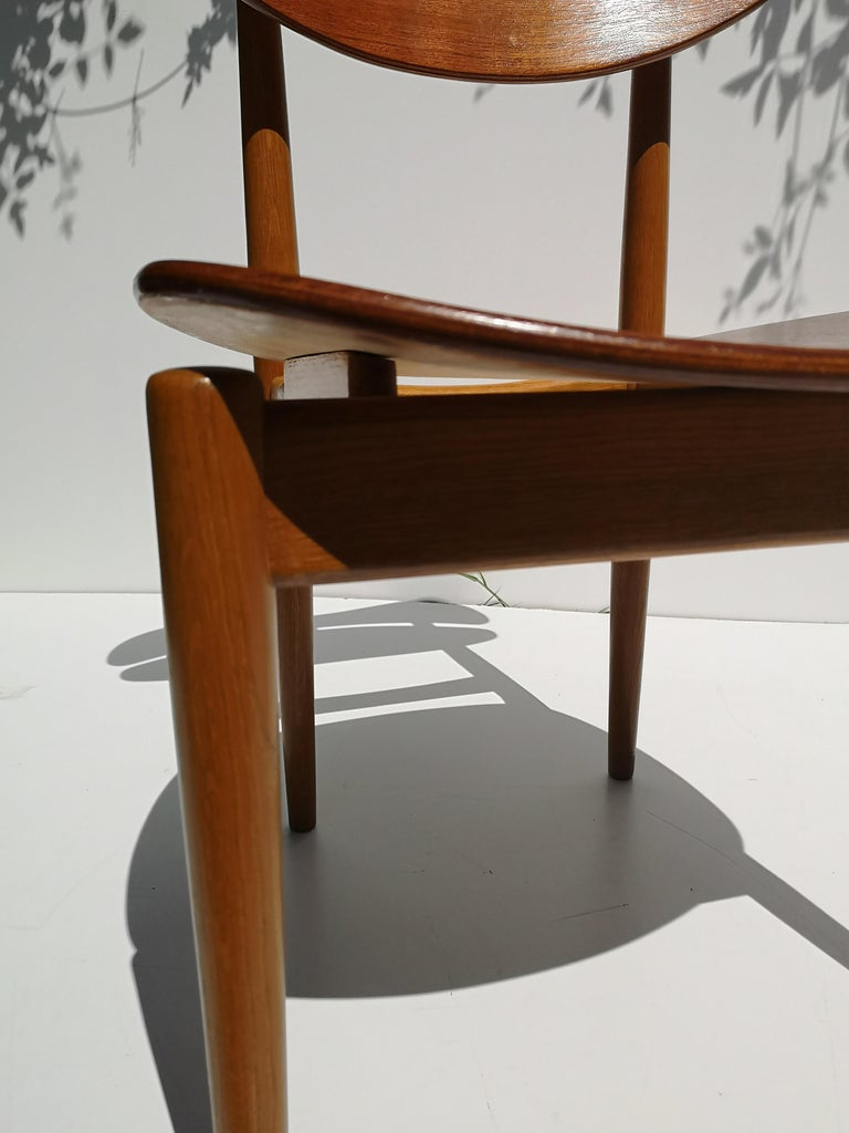 Danish 1950s Finn Juhl Reading Chair for Bovirke in Teak and Oak BO62 / BO53