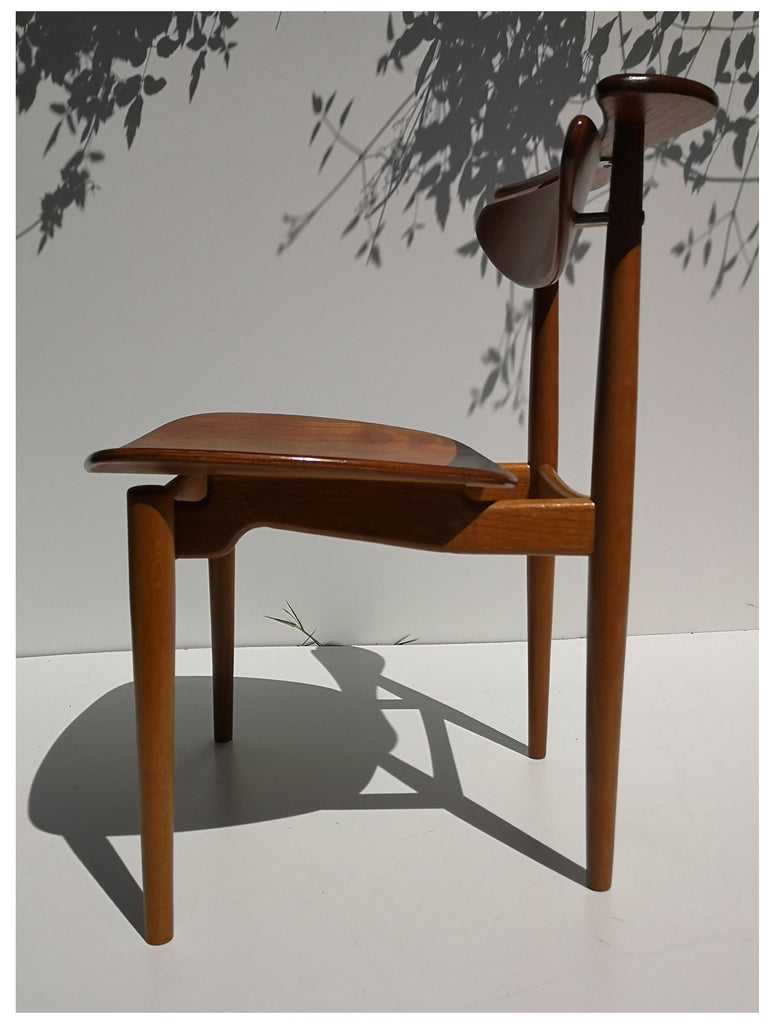 1950s Finn Juhl Reading Chair for Bovirke in Teak and Oak BO62 / BO53 1