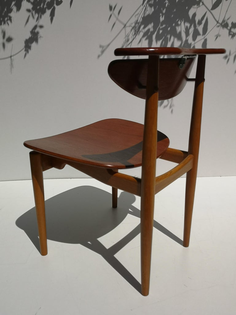 1950s Finn Juhl Reading Chair for Bovirke in Teak and Oak BO62 / BO53 2