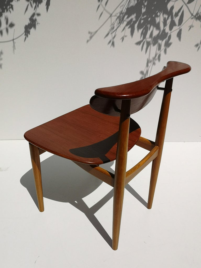 1950s Finn Juhl Reading Chair for Bovirke in Teak and Oak BO62 / BO53 3