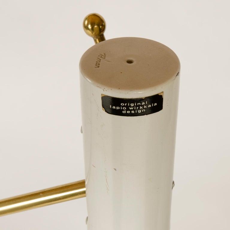 Mid-20th Century 1950s Finnish Adjustable Floor Lamp by Tapio Wirkkala for Idman Oy For Sale