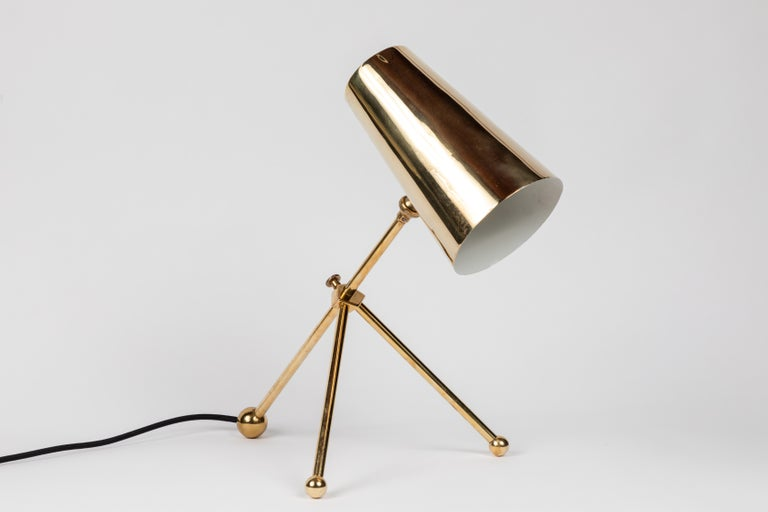 1950s Finnish Brass Table Lamp For Sale 4