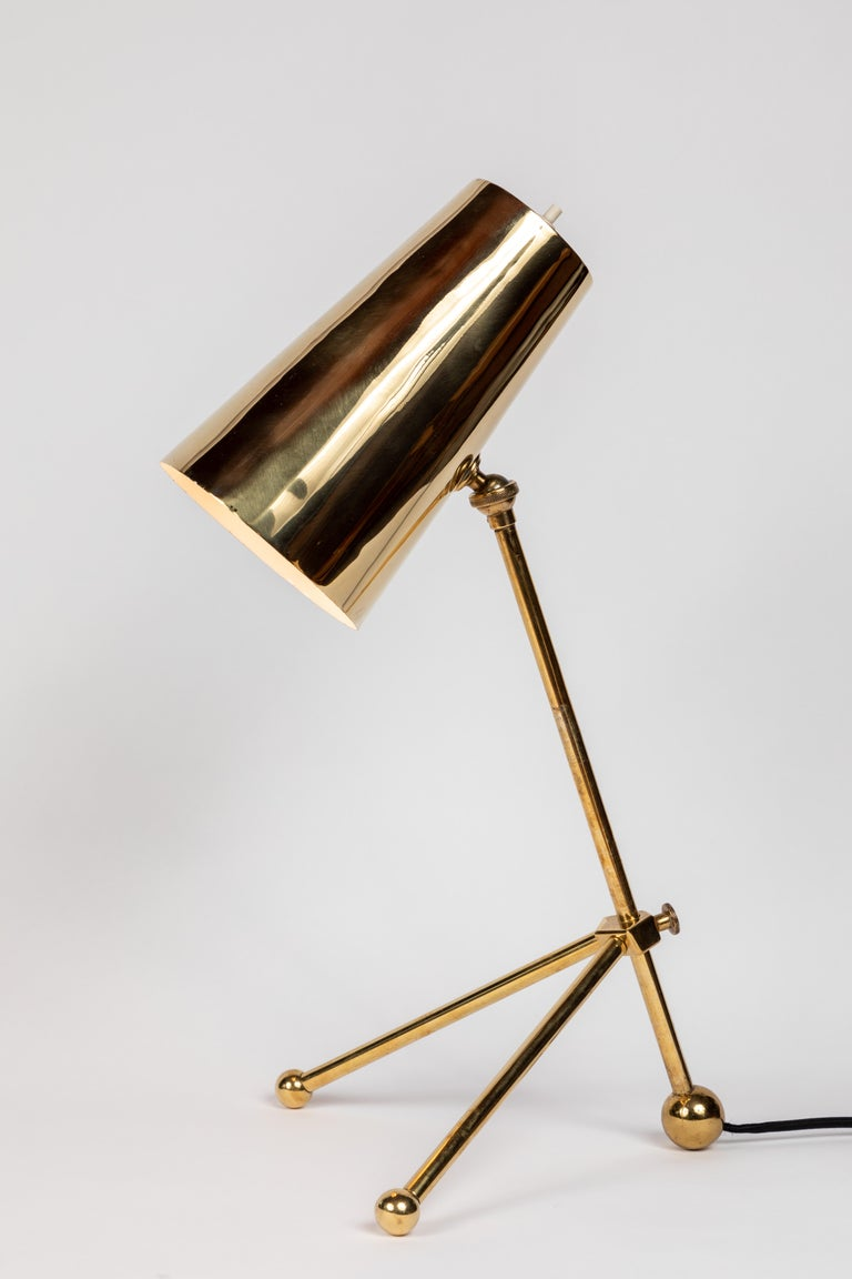 1950s Finnish Brass Table Lamp For Sale 1
