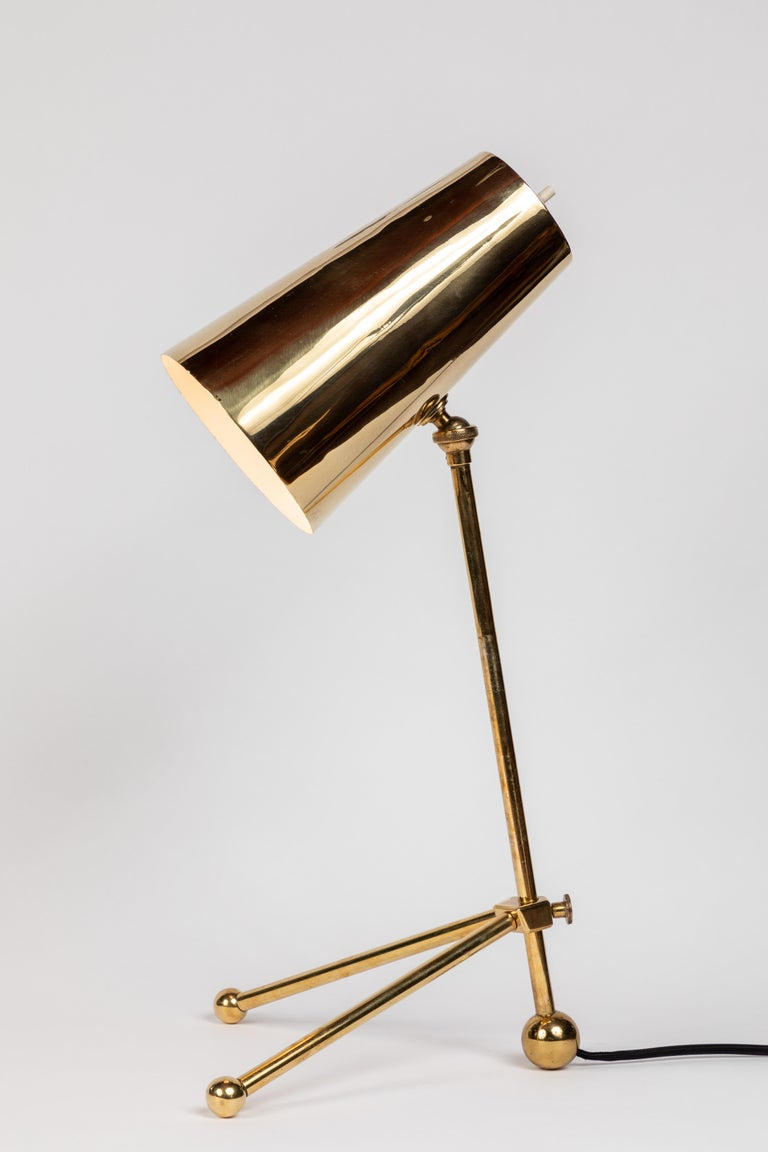 1950s Finnish Brass Table Lamp For Sale 2