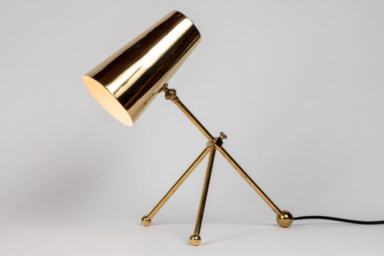 1950s Finnish Brass Table Lamp For Sale 3