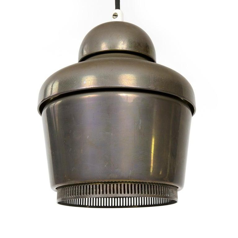 Scandinavian Modern 1950s Finnish 'Golden Bell' Brass Ceiling Lamp by Alvar Aalto for Valaistustyo For Sale
