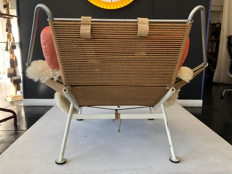 Mid-Century Modern Early Edition Flag Chair by Hans J. Wegner For Sale