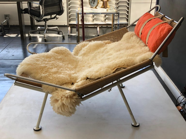 Early Edition Flag Chair by Hans J. Wegner For Sale 1