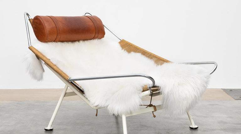1950s Flag Halyard Lounge Chair by Hans Wegner 'a' For Sale 4