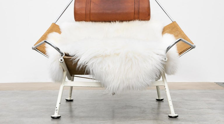 1950s Flag Halyard Lounge Chair by Hans Wegner 'a' For Sale 8