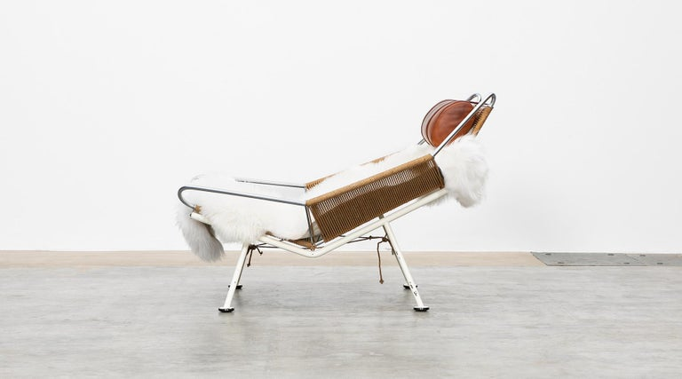 Danish 1950s Flag Halyard Lounge Chair by Hans Wegner 'a' For Sale