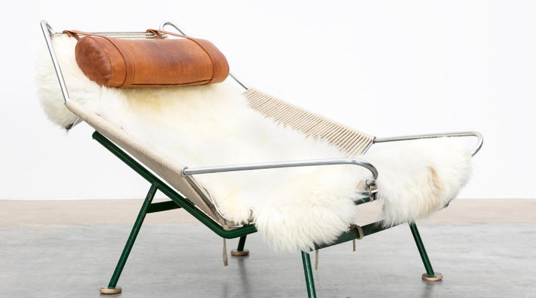 1950s Flag Halyard Lounge Chair by Hans Wegner 'b' For Sale 3