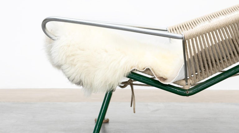 1950s Flag Halyard Lounge Chair by Hans Wegner 'b' For Sale 4