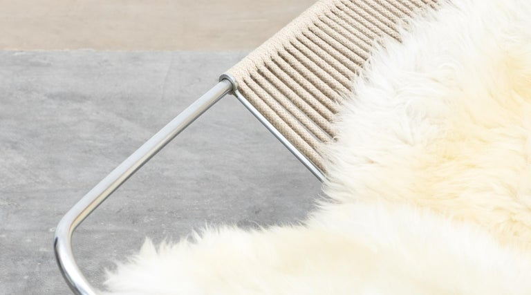 1950s Flag Halyard Lounge Chair by Hans Wegner 'b' For Sale 10