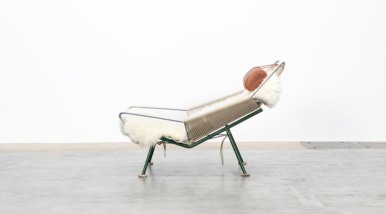 1950s Flag Halyard Lounge Chair by Hans Wegner 'b' In Good Condition For Sale In Frankfurt, Hessen, DE