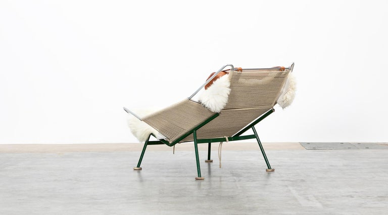 Mid-20th Century 1950s Flag Halyard Lounge Chair by Hans Wegner 'b' For Sale