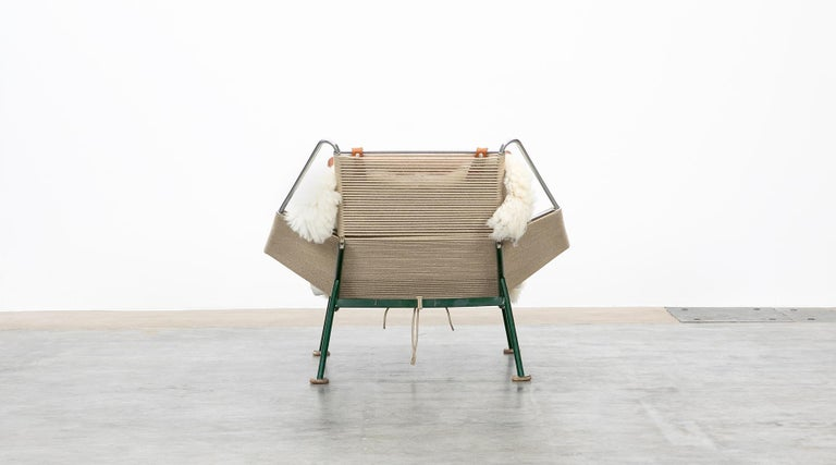 1950s Flag Halyard Lounge Chair by Hans Wegner 'b' For Sale 1