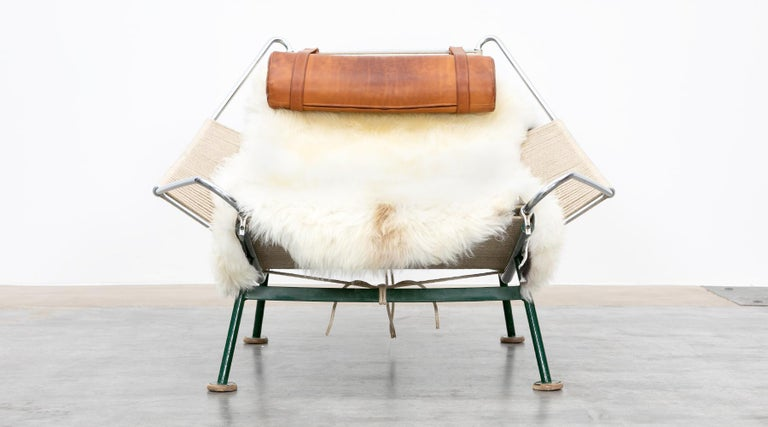 1950s Flag Halyard Lounge Chair by Hans Wegner 'b' For Sale 2