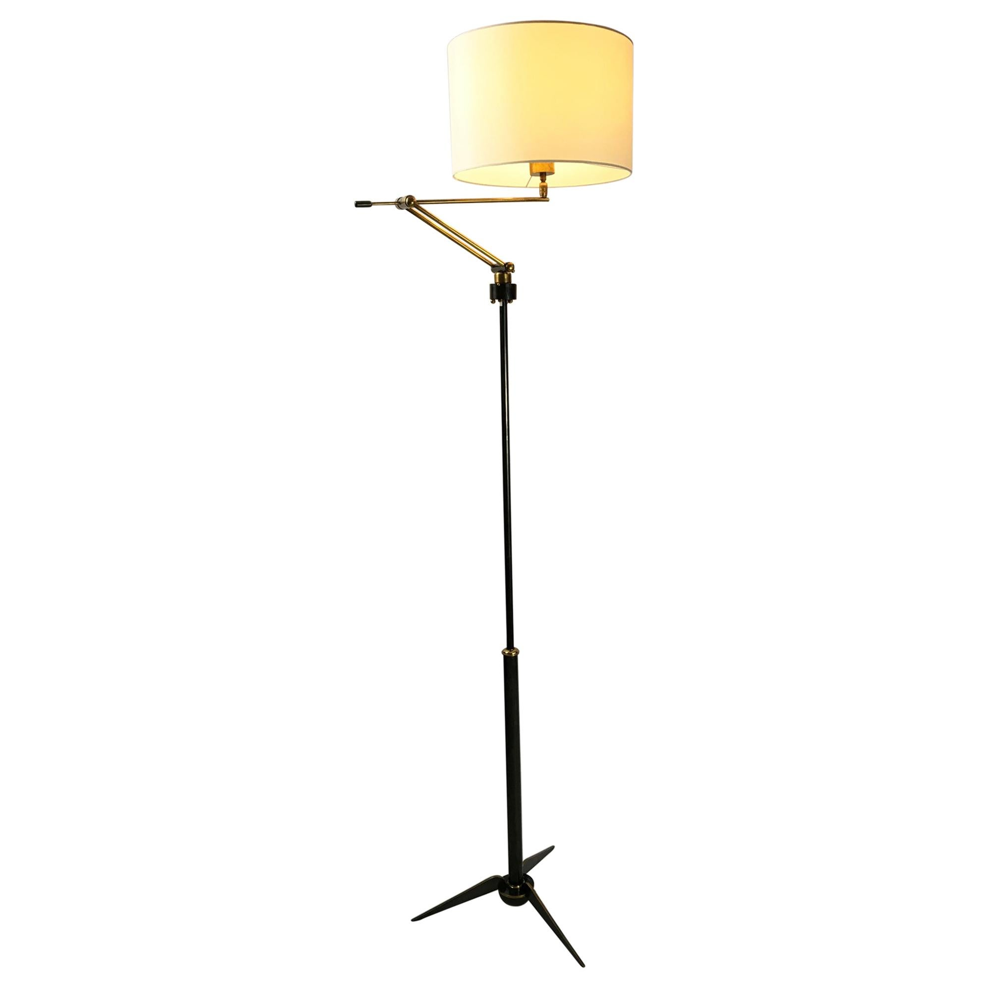 1950s Floor Lamp by Maison Lunel, France