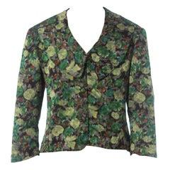 1950S Floral Silk Ikat Jacket