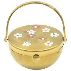1950s Flower Basket Compact