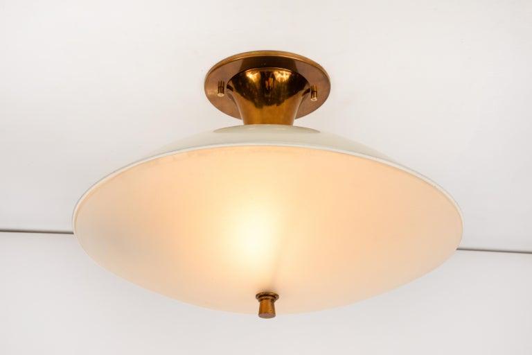 1950s Flushmount Ceiling Light by Oscar Torlasco for Lumi For Sale 3