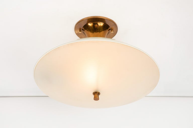 1950s Flushmount Ceiling Light by Oscar Torlasco for Lumi For Sale 4