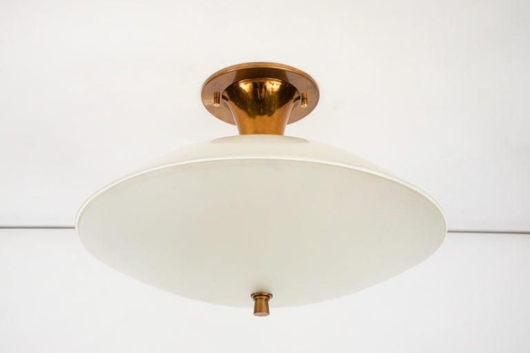 1950s Flushmount Ceiling Light by Oscar Torlasco for Lumi For Sale 5