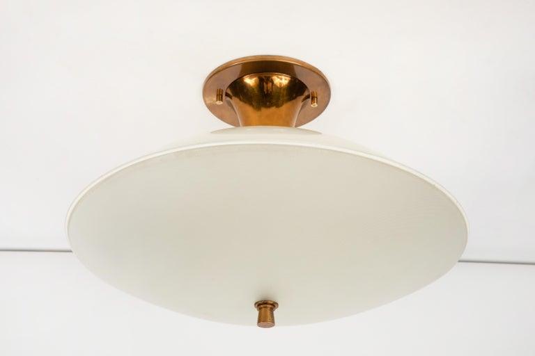 1950s Flushmount Ceiling Light by Oscar Torlasco for Lumi For Sale 6