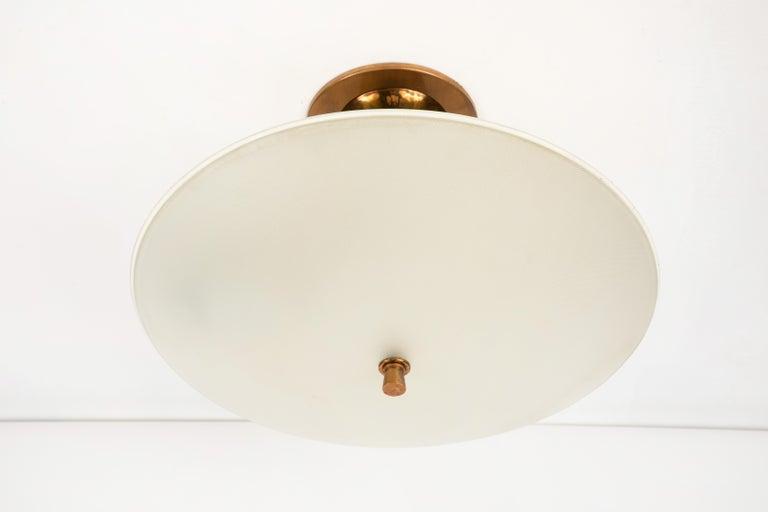 1950s Flushmount Ceiling Light by Oscar Torlasco for Lumi For Sale 7