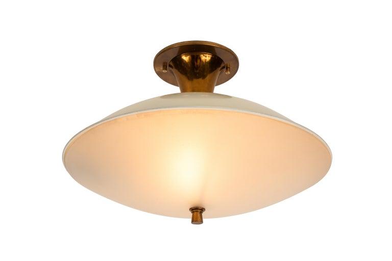Italian 1950s Flushmount Ceiling Light by Oscar Torlasco for Lumi For Sale