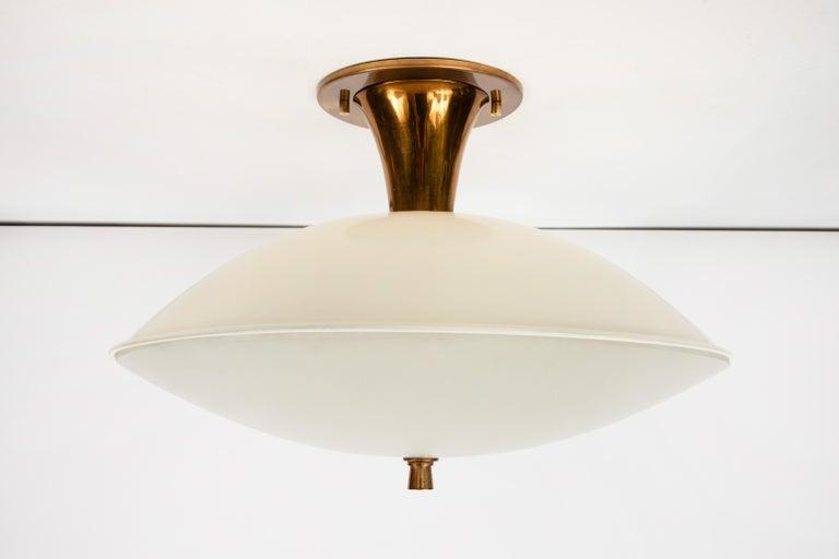 Enameled 1950s Flushmount Ceiling Light by Oscar Torlasco for Lumi For Sale
