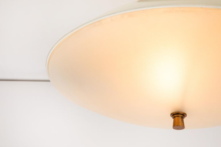 1950s Flushmount Ceiling Light by Oscar Torlasco for Lumi In Good Condition For Sale In Glendale, CA