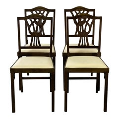 1950s Folding Dining Chairs, Set of 4