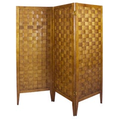 1950s Folding Screen, Three Parts, Ashwood, France
