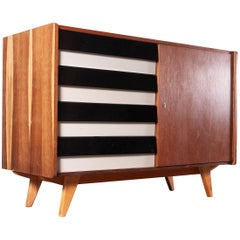 1950s Four Drawer Oak Chest Of Drawers / Cabinet  By Jiri Jiroutek For Interieu