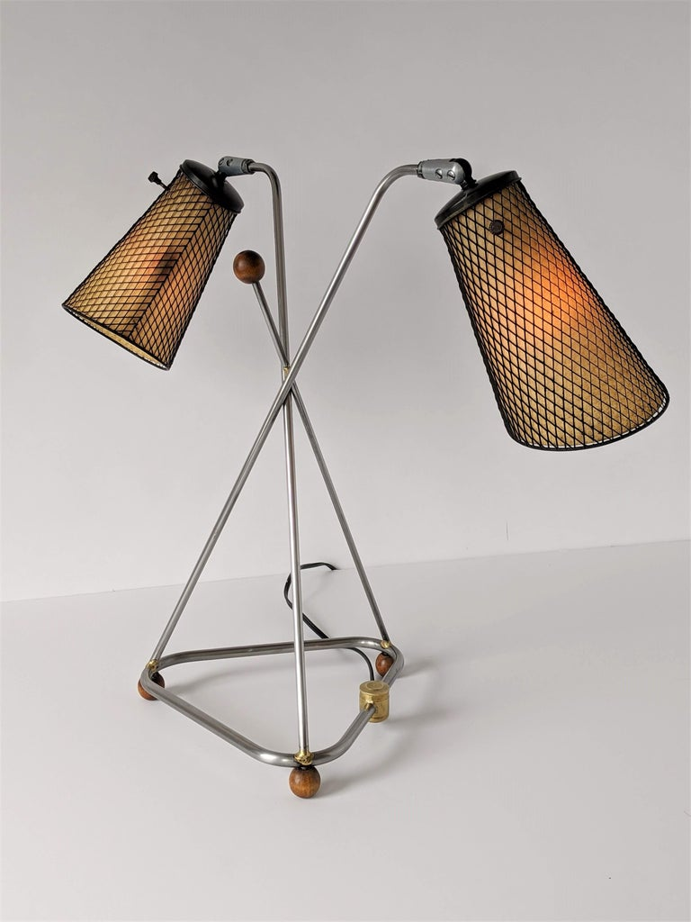 Mid-Century Modern 1950s Frederick Weinberg Table Lamp, USA For Sale