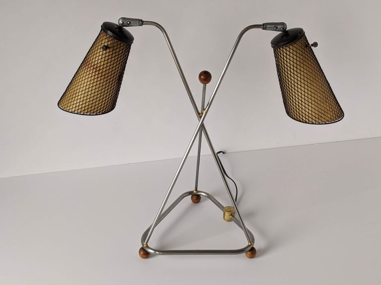 1950s Frederick Weinberg Table Lamp, USA In Good Condition For Sale In St- Leonard, Quebec