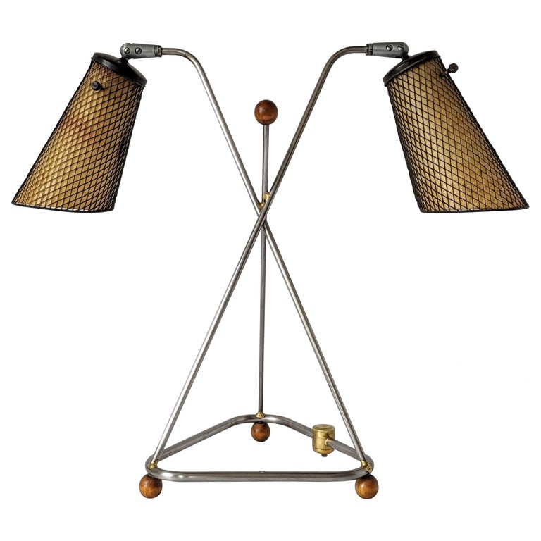 1950s Frederick Weinberg Table Lamp, USA For Sale