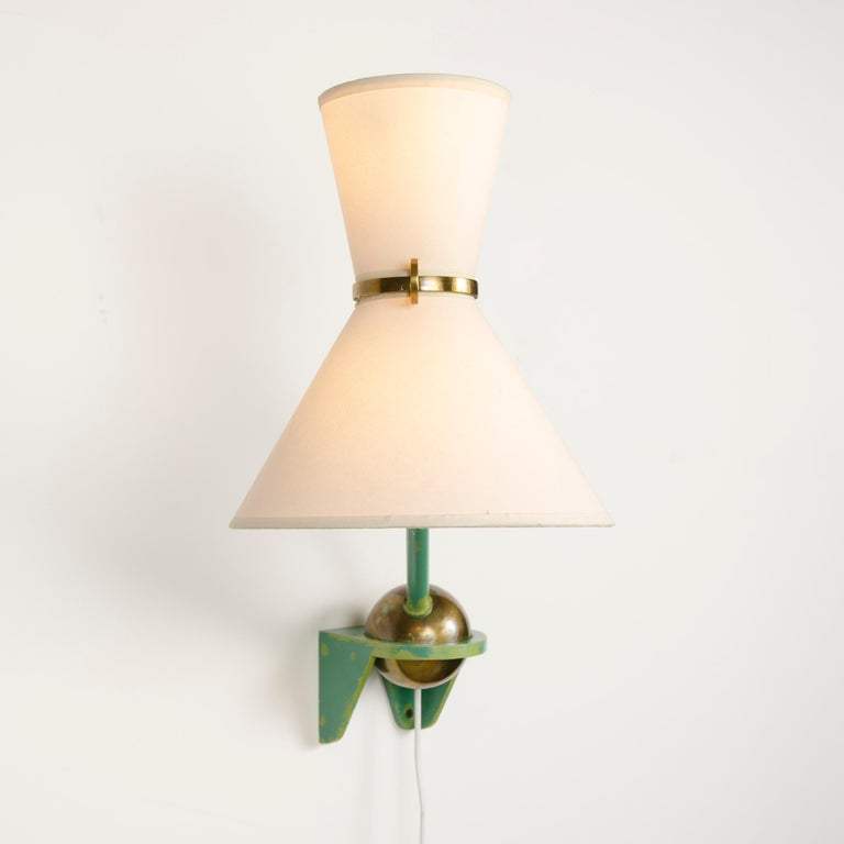 Mid-20th Century 1950s French Adjustable and Telescoping Wall Lamp by Robert Mathieu For Sale