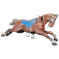 1950s French Amusement Park Large Decorative Horse, Original Paint