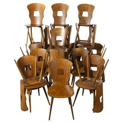 1950s French Baumann Bentwood Gentiane Dining Chair, Good Quantity Available