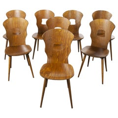 1950s French Baumann Bentwood Gentiane Dining Chair, Set of Eight