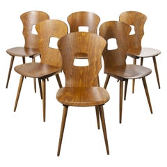 1950s French Baumann Bentwood Gentiane Dining Chair, Set of Six